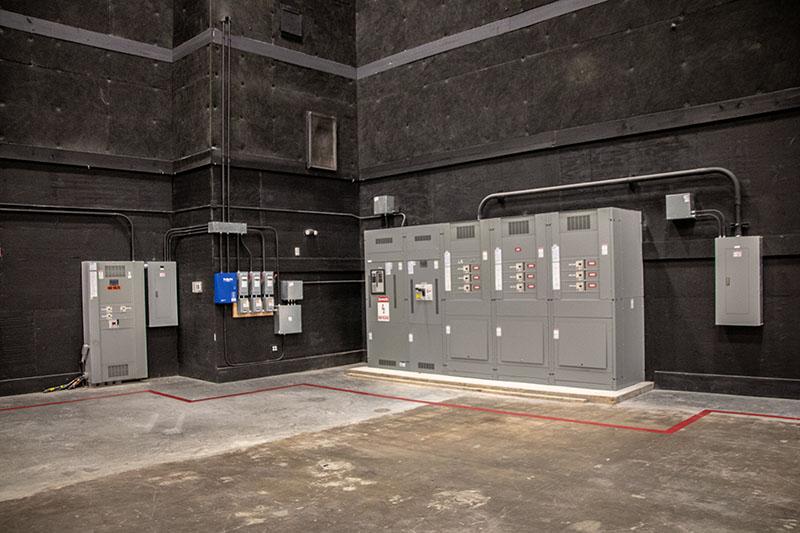 Stage 3 at Third Rail Studios: 4K amp power